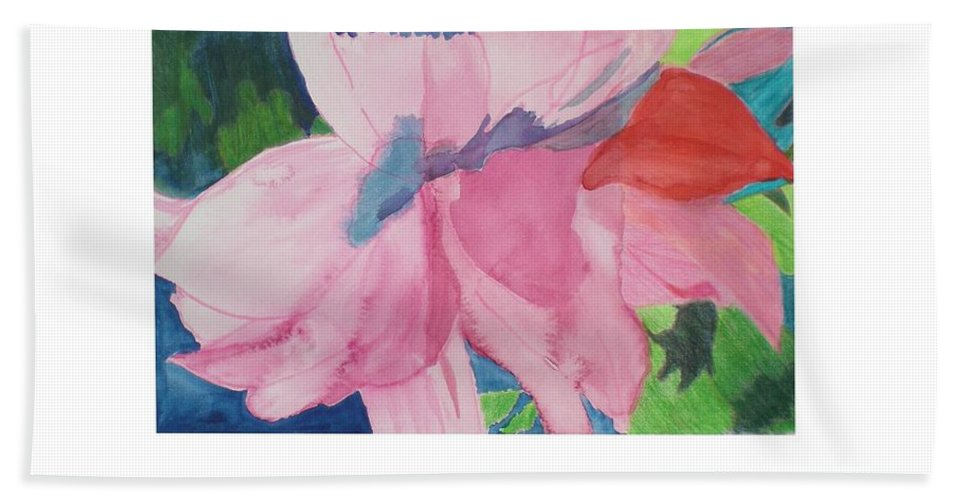Flower Bath Towel featuring the painting Beautiful Azalea by Hal Newhouser