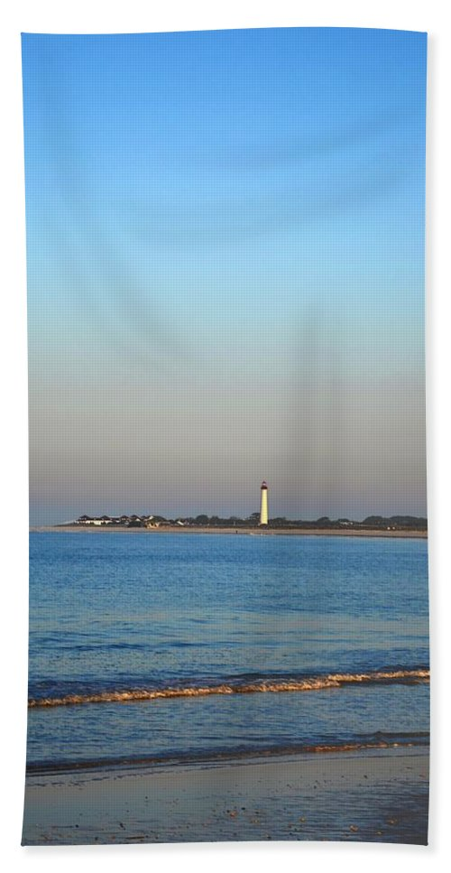 Cape May Hand Towel featuring the photograph Beautiful Day In Cape May by Bill Cannon