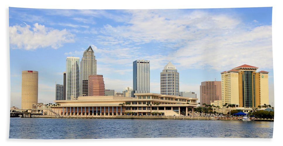 Fine Art Photography Hand Towel featuring the photograph Beautiful Day Tampa Bay by David Lee Thompson