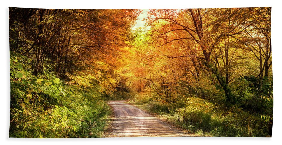 Appalachia Hand Towel featuring the photograph Beautiful Fall Day by Debra and Dave Vanderlaan