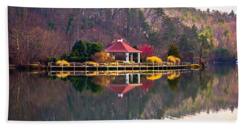 Beautiful Bath Sheet featuring the photograph Beautiful Landscape Near Lake Lure North Carolina by Alex Grichenko