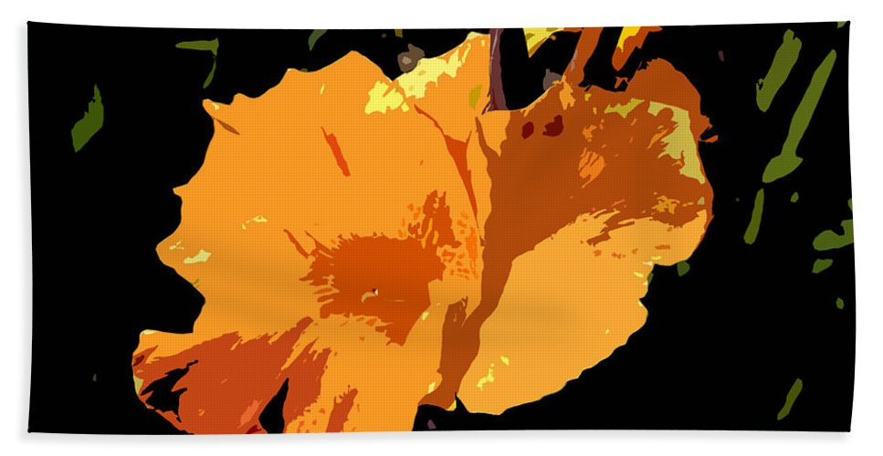 Flower Hand Towel featuring the photograph Beautiful Orange Work Number 19 by David Lee Thompson