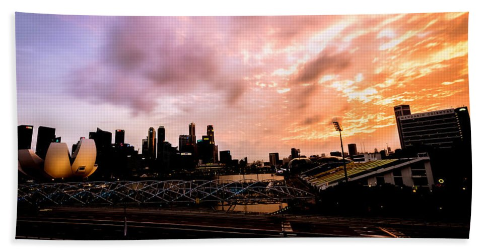 Architecture Bath Sheet featuring the photograph Beautiful Sunset 2 by Jijo George