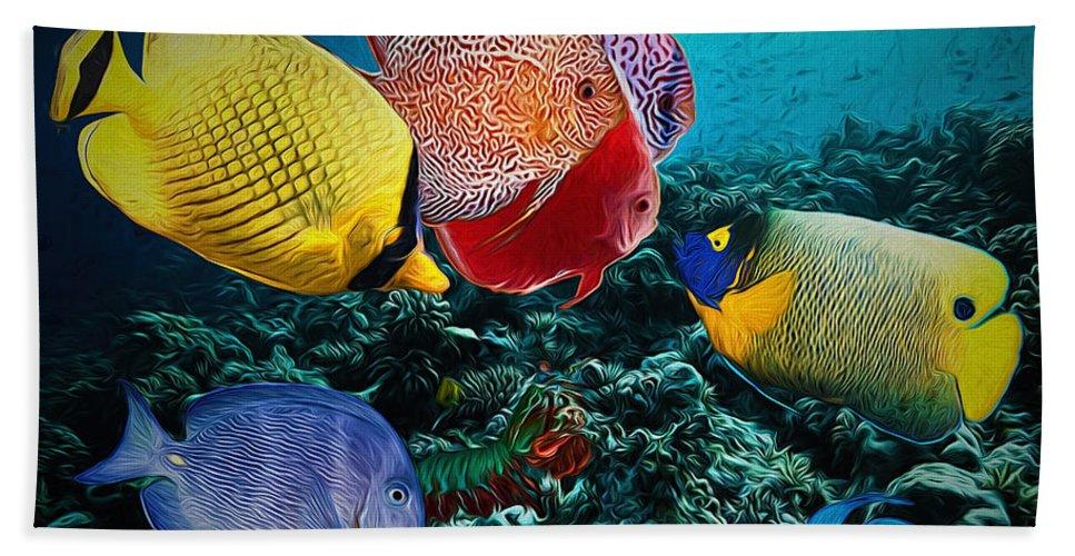 Fishes Bath Sheet featuring the digital art Beauty Contest by Drazen Kirchmayer
