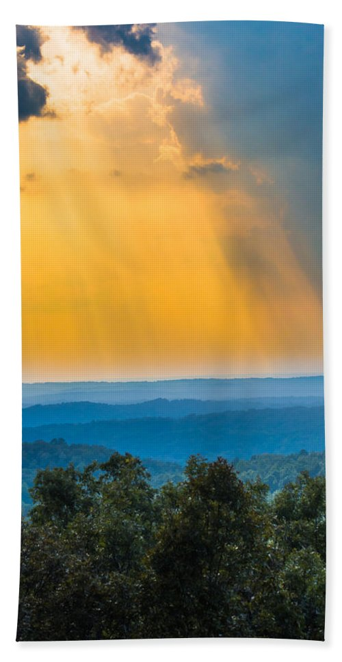 Sunlight Bath Sheet featuring the photograph Beauty From The Heavens by Parker Cunningham