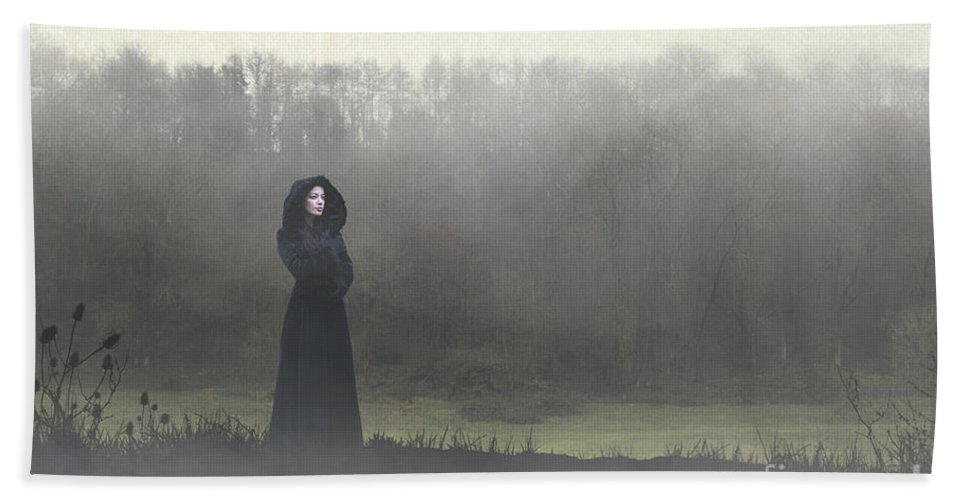 Woman Hand Towel featuring the photograph Beauty In The Fog by Clayton Bastiani