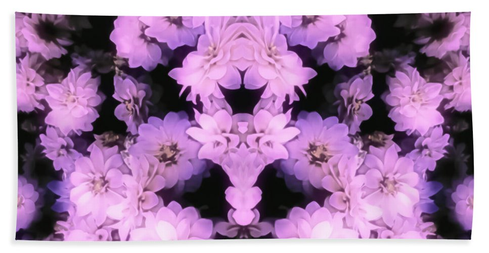 Hand Towel featuring the photograph Bed Of Pink Dahlias by Heather Joyce Morrill