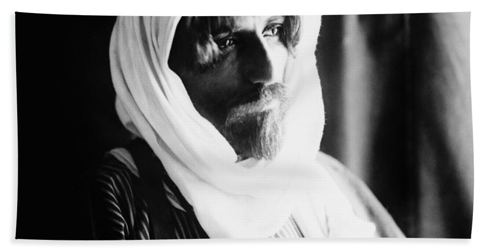1910 Bath Sheet featuring the photograph Bedouin Man, C1910 by Granger
