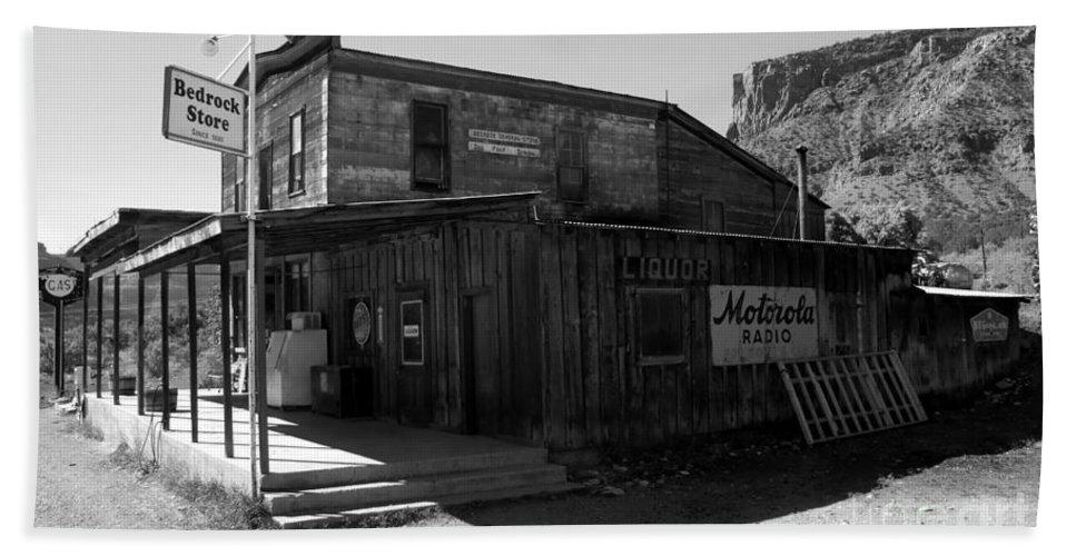 Bedrock Colorado Bath Sheet featuring the photograph Bedrock Store 1881 by David Lee Thompson
