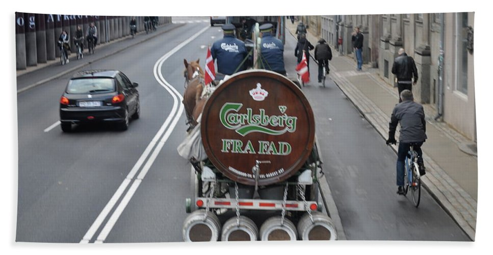 Carlsberg Bath Sheet featuring the photograph Beer Wagon by Kat Cortez