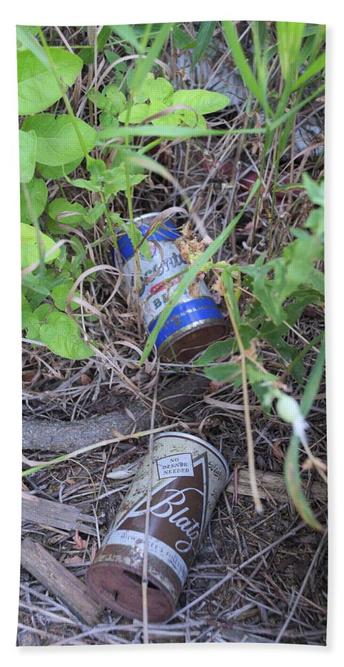 Abandoned Hand Towel featuring the photograph Beers To You by Timothy Ruf