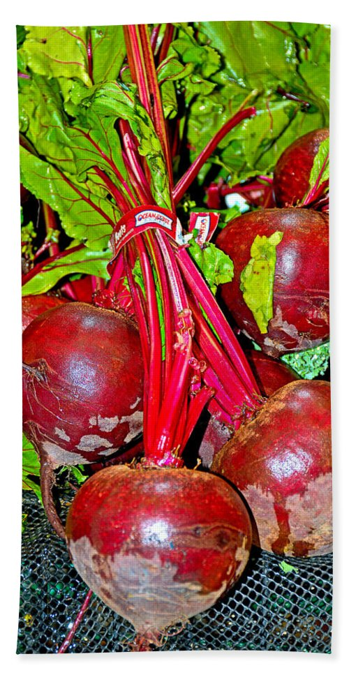 Beets Hand Towel featuring the photograph Beets by Robert Meyers-Lussier