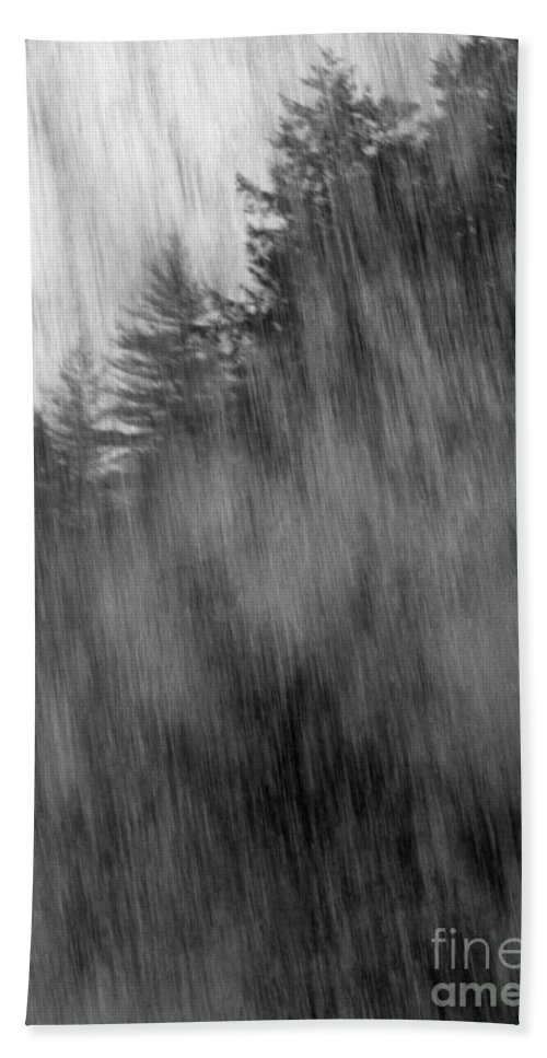 Waterfalls Hand Towel featuring the photograph Behind The Falls by Richard Rizzo