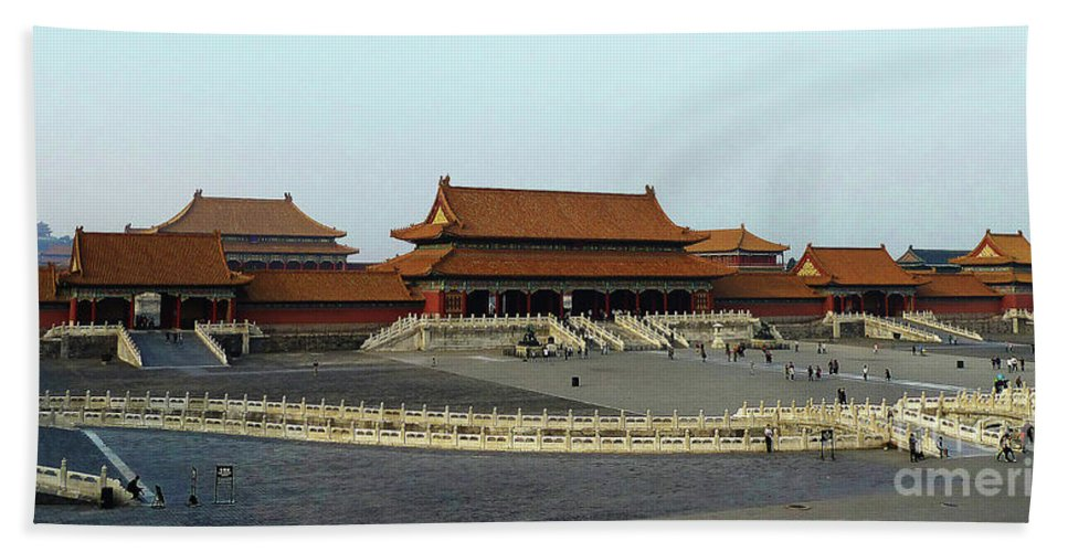 Beijing Hand Towel featuring the photograph Beijing City 28 by Xueling Zou