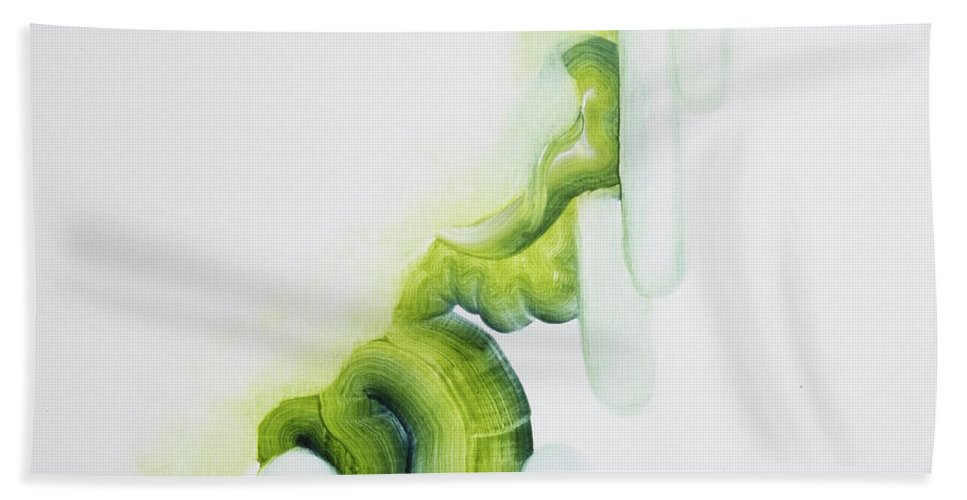 Surreal Hand Towel featuring the painting Being Curl by April Zanne Johnson