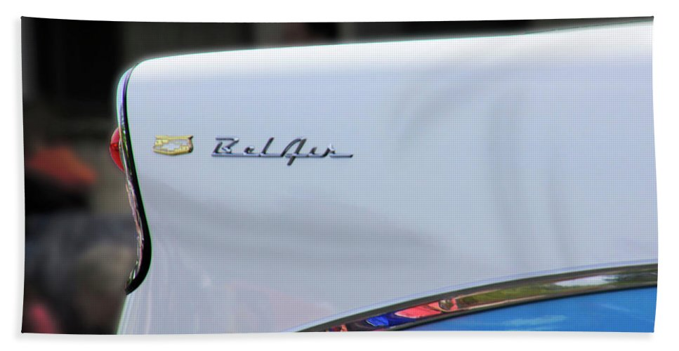 Chevy Hand Towel featuring the photograph Bel Air Blue by Pauline Darrow
