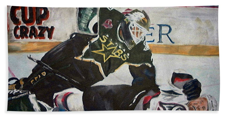 Belfour Hand Towel featuring the painting Belfour by Travis Day