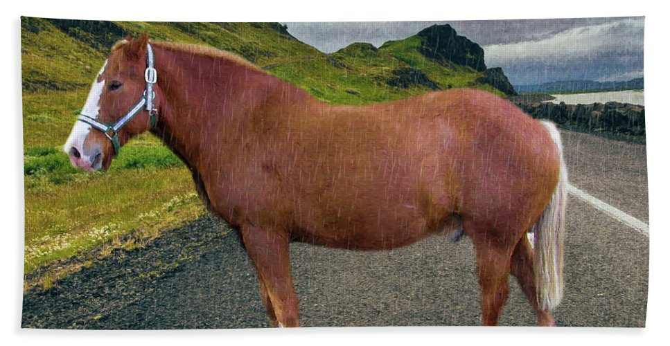 Painting Bath Sheet featuring the photograph Belgian Horse by Ericamaxine Price