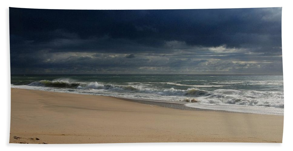 Jersey Shore Hand Towel featuring the photograph Believe - Jersey Shore by Angie Tirado