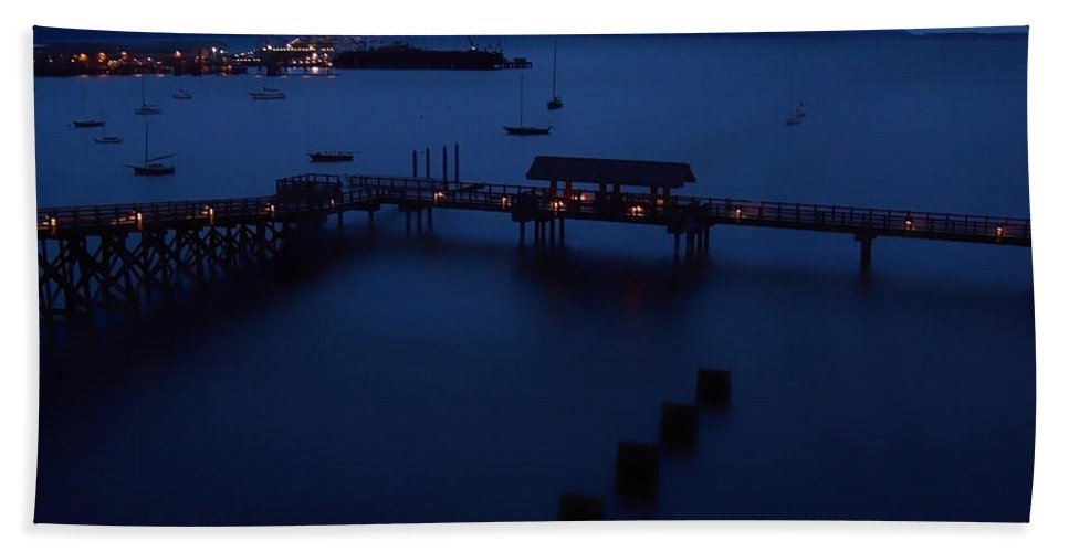 Bellingham Bay Hand Towel featuring the photograph Bellingham Bay by Donna Blackhall