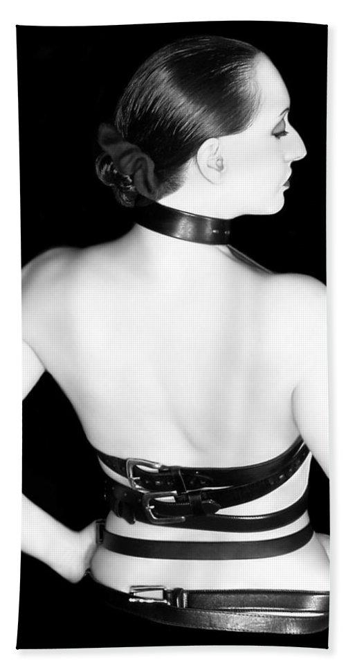 Artistic Bath Sheet featuring the photograph Belted 2 - Self Portrait by Jaeda DeWalt