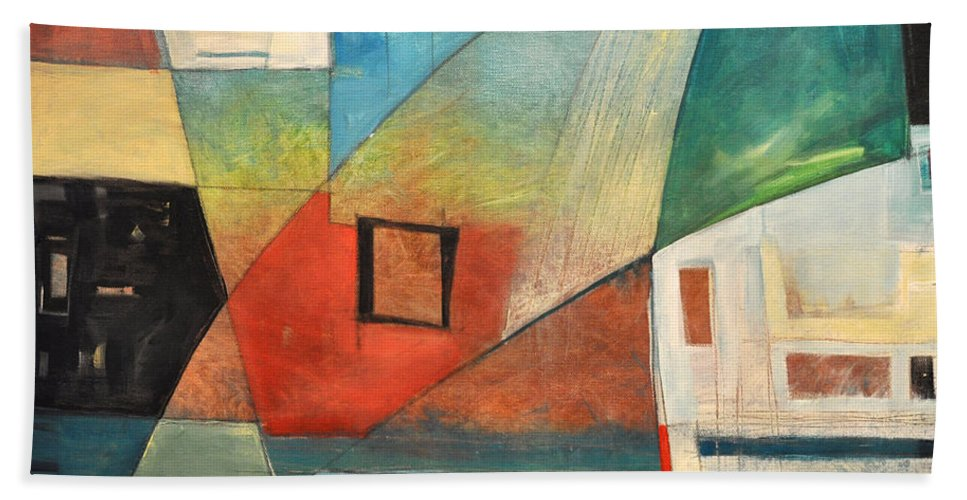 Jazz Hand Towel featuring the painting Bemsha Swing by Tim Nyberg