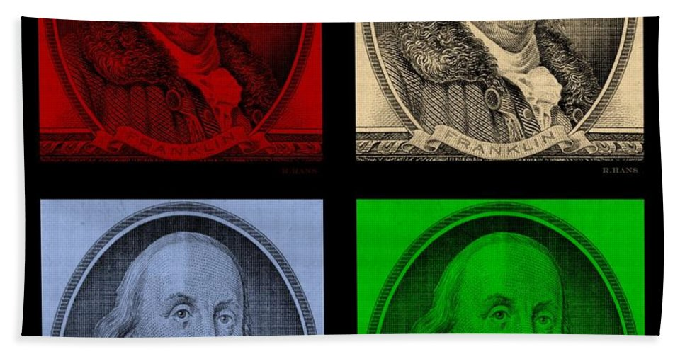 Ben Franklin Hand Towel featuring the photograph Ben Franklin In Colors by Rob Hans