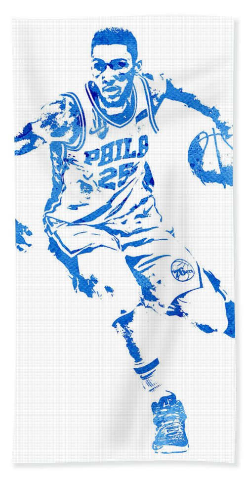 Ben Simmons Philadelphia 76ers Water Color Pixel Art 1 Bath Towel for Sale  by Joe Hamilton 67d949983