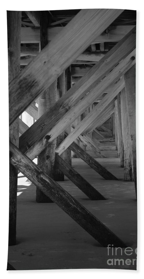 Hand Towel featuring the photograph Beneath The Docks Day by Jamie Lynn