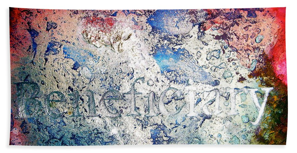 Abstract Art Bath Sheet featuring the painting Beneficiary by Laura Pierre-Louis