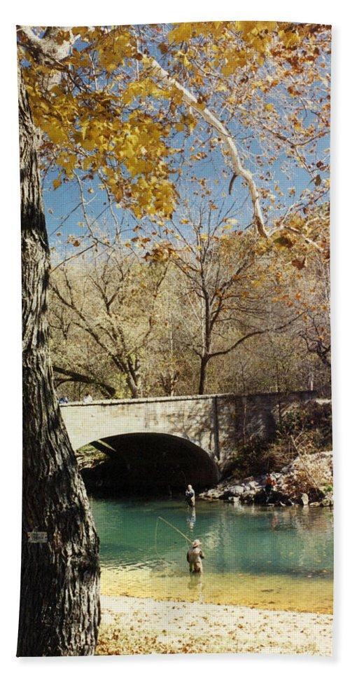 Landscape Bath Sheet featuring the photograph Bennet Springs by Steve Karol