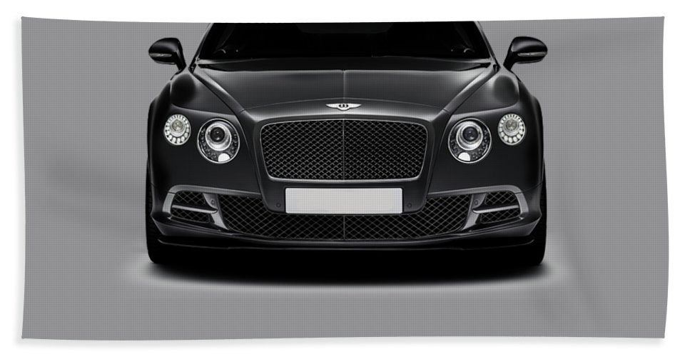 Bentley Continental Gt Hand Towel featuring the photograph Bentley Continental Gt by Mark Rogan