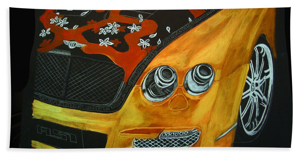 Bentley Bath Sheet featuring the painting Bentley W66gts by Richard Le Page