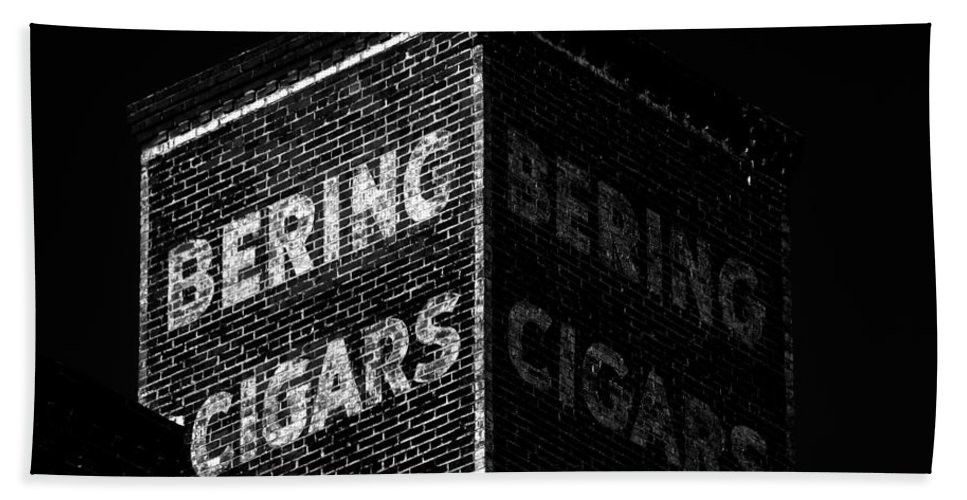 Cigar Bath Sheet featuring the photograph Bering Cigar Factory by David Lee Thompson
