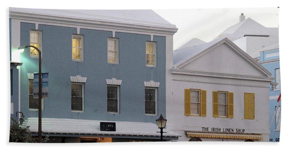 Bermuda Bath Sheet featuring the photograph Bermuda Front Street Two by Ian MacDonald