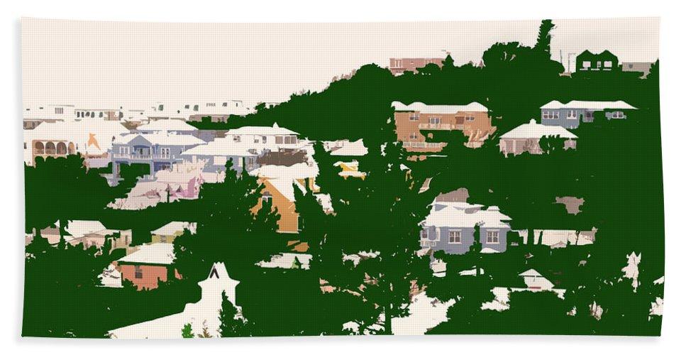 Bermuda Bath Sheet featuring the photograph Bermuda Neighborhood by Ian MacDonald