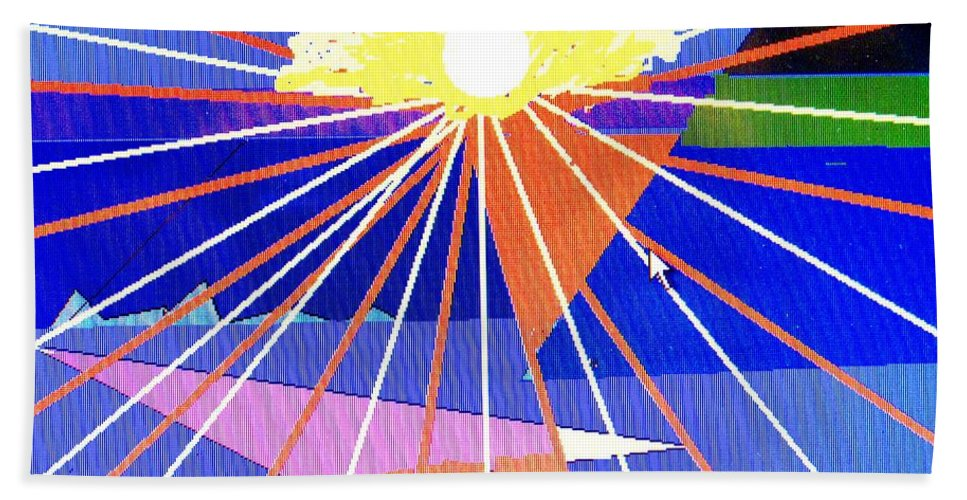Sunset Bath Towel featuring the digital art Bermuda Sunset by Ian MacDonald