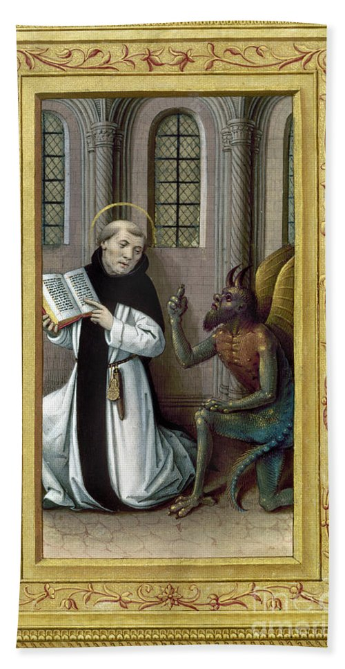 Aod Hand Towel featuring the painting Bernard De Clairvaux by Granger