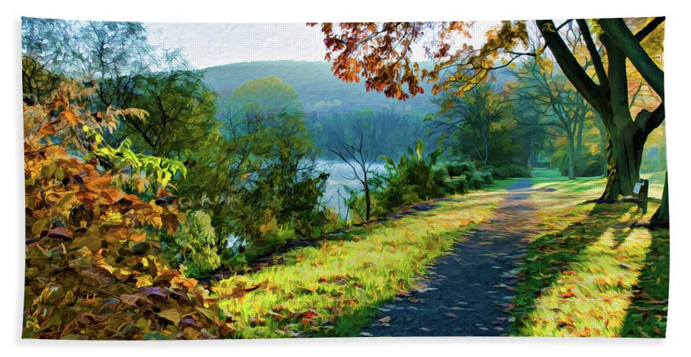 Pennsylvania Hand Towel featuring the photograph Bernharts Dam Fall 12-25 by Scott McAllister