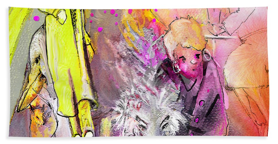 Acrylics Hand Towel featuring the painting Best In Show by Miki De Goodaboom