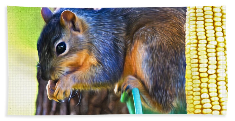 Sciuridae Hand Towel featuring the photograph Best Seat In The House by Lana Trussell