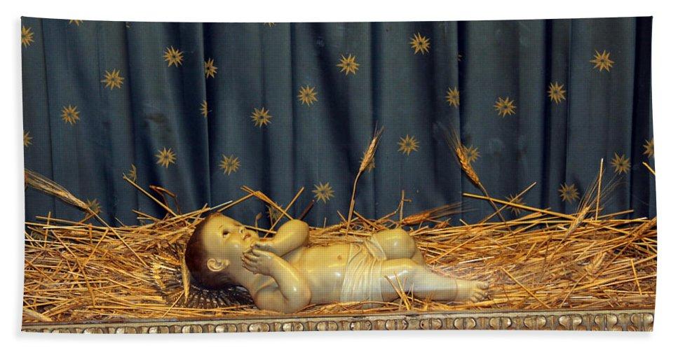 Bethlehem Hand Towel featuring the photograph bethlehem - Baby Jesus by Munir Alawi