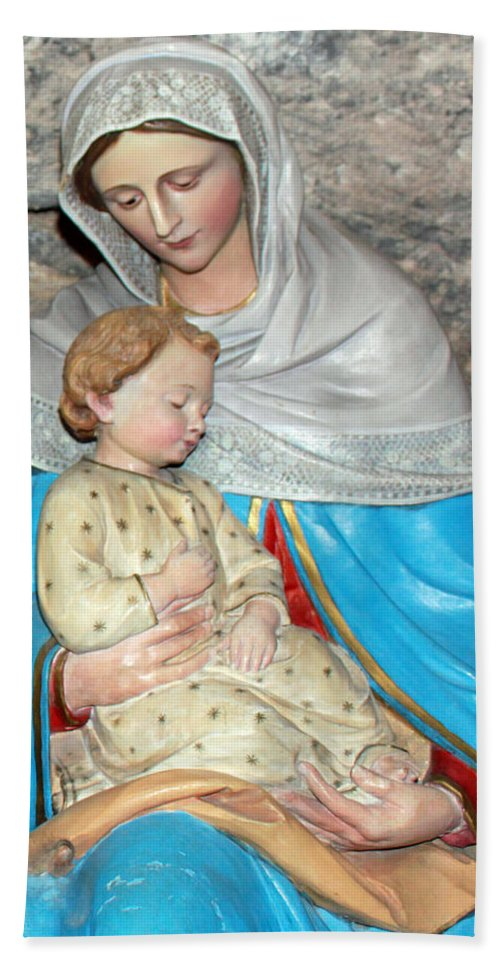 Milk Hand Towel featuring the photograph Bethlehem - Milk Grotto Church by Munir Alawi