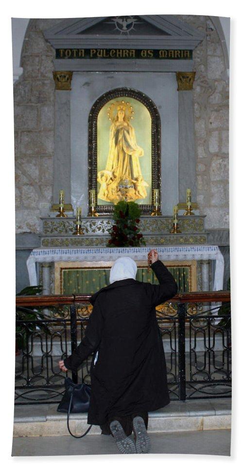 Bethlehem Hand Towel featuring the photograph Bethlehem - The Rosary by Munir Alawi