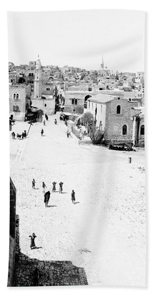 Bethlehem Hand Towel featuring the photograph Bethlehem 1889s by Munir Alawi