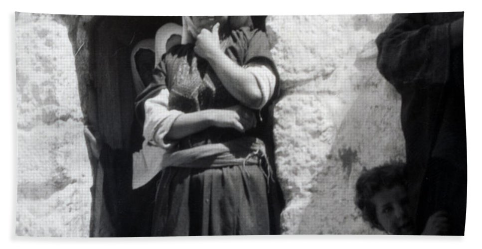 1900s Hand Towel featuring the photograph Bethlehemites Women 1900s by Munir Alawi