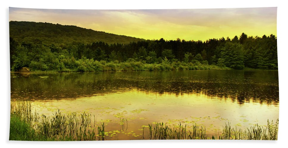 Scenic Hand Towel featuring the photograph Beyond Sunset Landscape by Christina Rollo