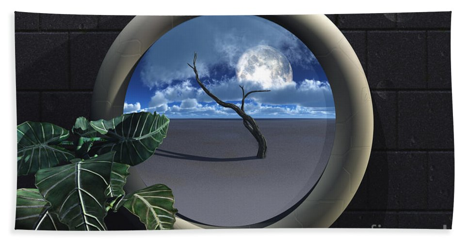 Walls Hand Towel featuring the digital art Beyond Walls by Richard Rizzo