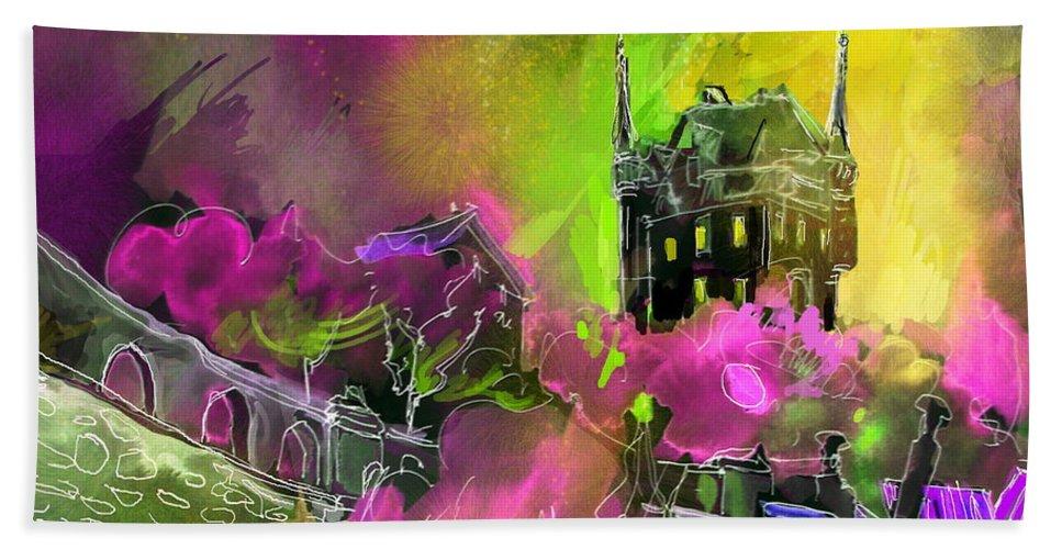 Biarritz Hand Towel featuring the painting Biarritz 14 Bis by Miki De Goodaboom
