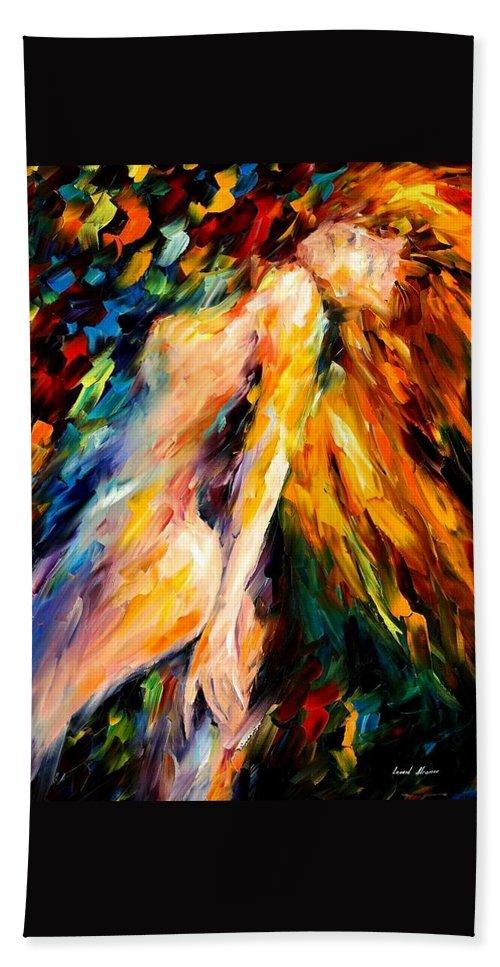 Afremov Bath Towel featuring the painting Bias by Leonid Afremov